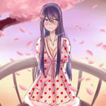 Yuri in a strawberry dress