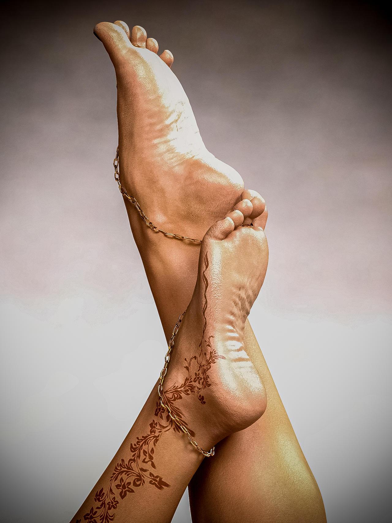 Decorated Feet