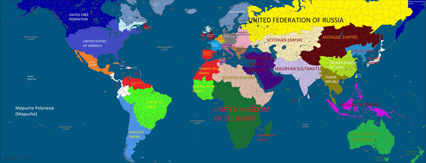 Alternate World Map By Kirby65422 On Deviantart
