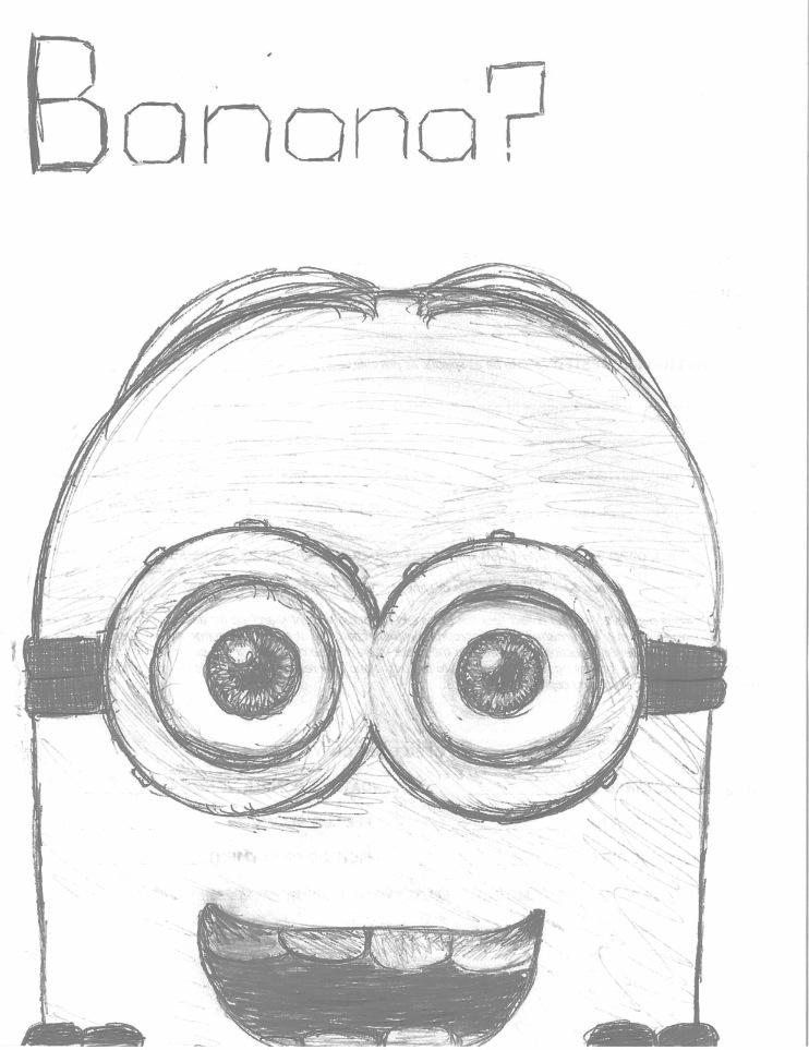 How To Draw Minion Banana