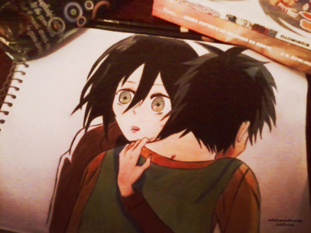 Mikasa And Eren Titan