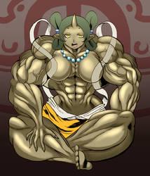 Oriental muscle goddess by ikura-maru