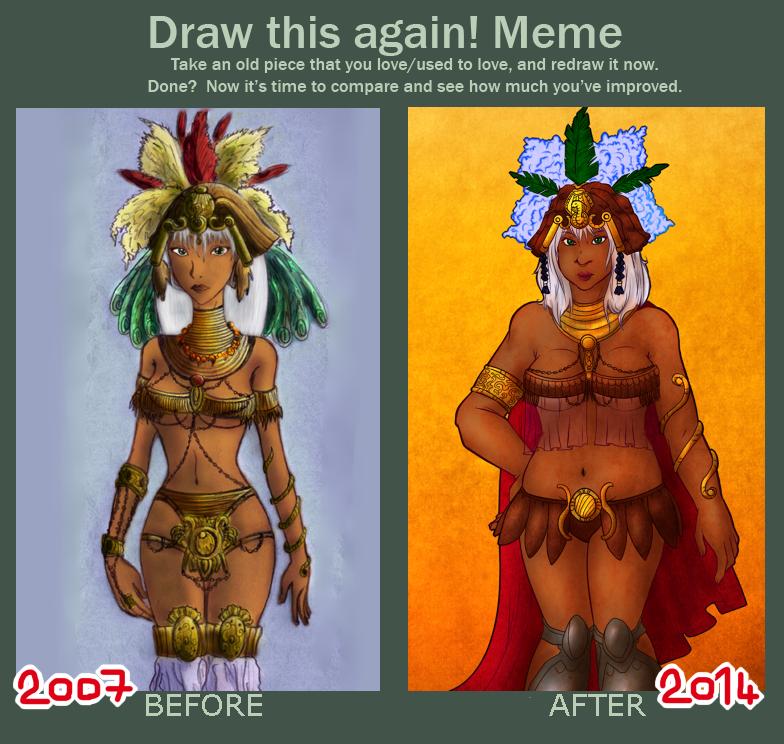 Original - Draw this again! meme - Khalida by MasterFranny