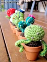 Amigurumi Cacti by Close-Encounters