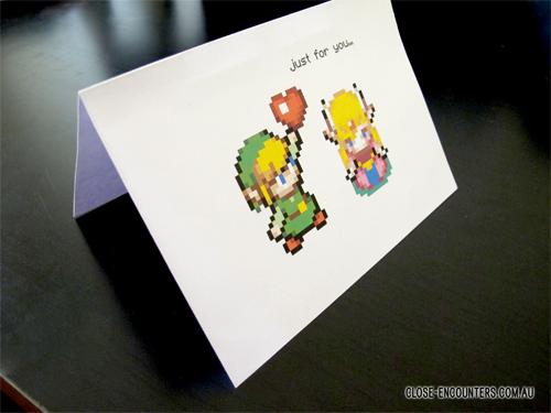 Pixel Art Valentines Day Card Legend of Zelda by CloseEncounters – Legend of Zelda Valentine Card