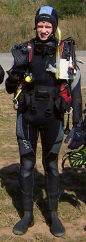 Me ready to jump into the lake