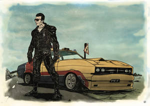 Mad Max Genesis Car - Postcard
