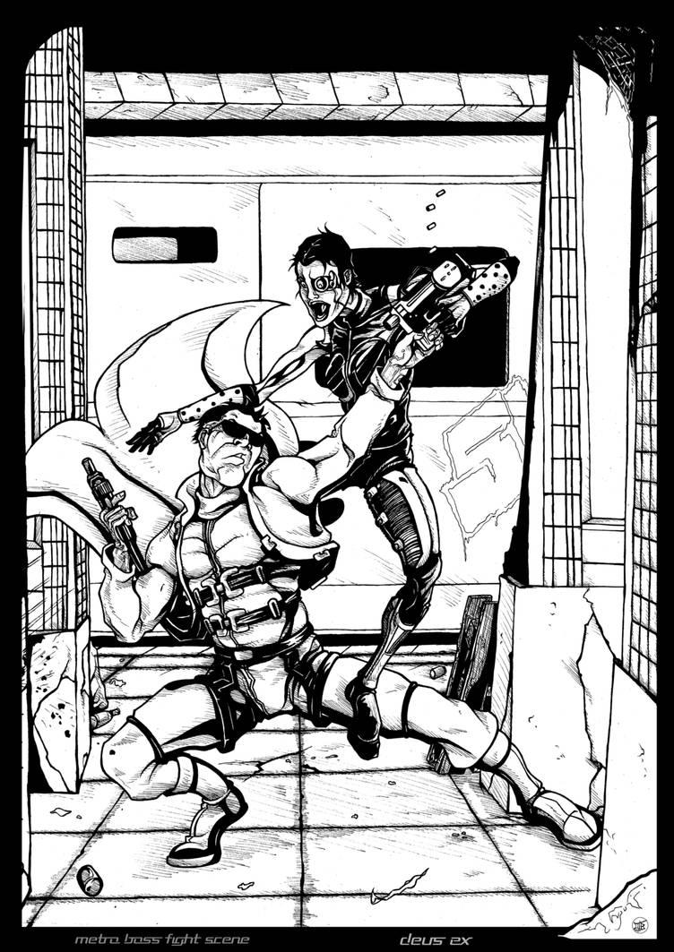Subway fight scene - DeusEx - WIP by Cilab