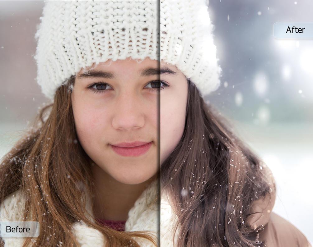 A Winter's Tale Workflow by Sleeklens - Girl w/Hat by Sleeklens