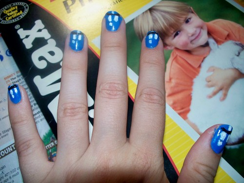 TARDIS nails by twasbrillig12