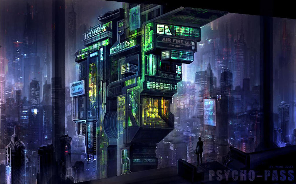 psycho-pass city by Wi...