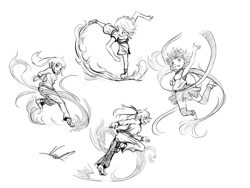 Sketching Poses by Nac0n