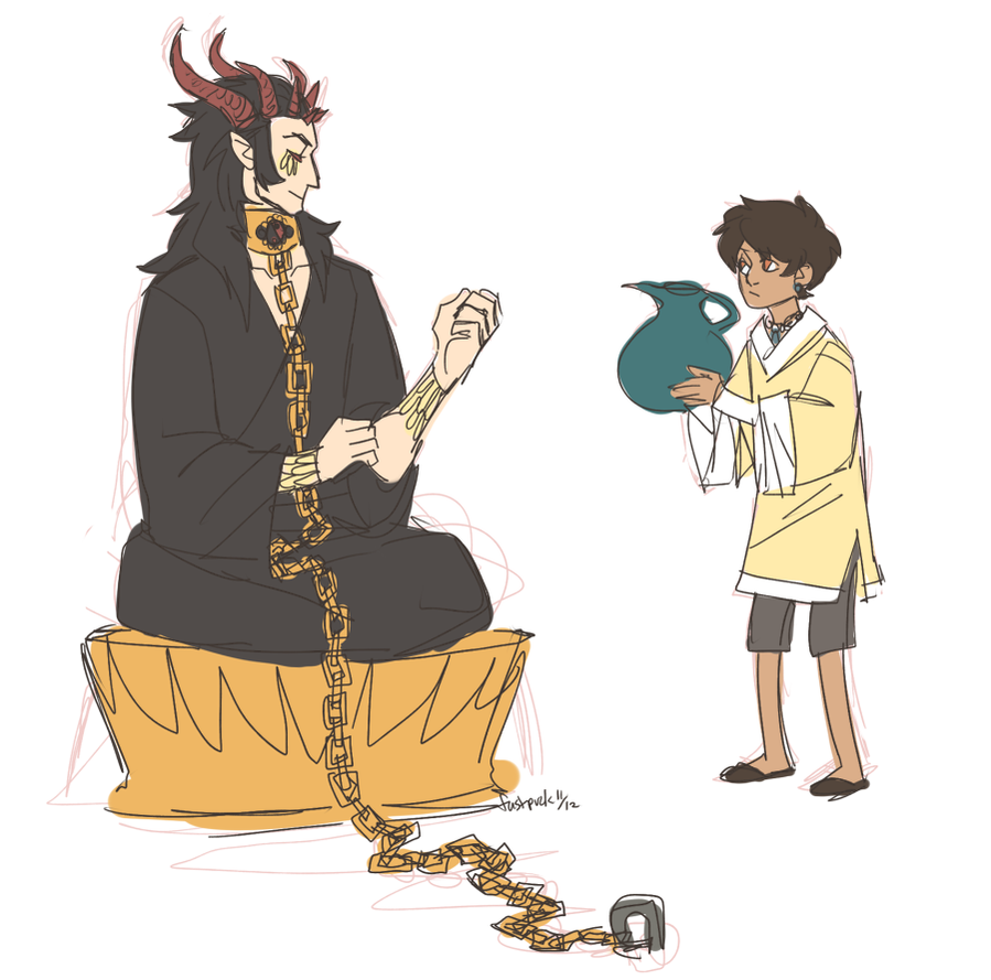 kid and demon by FastPuck
