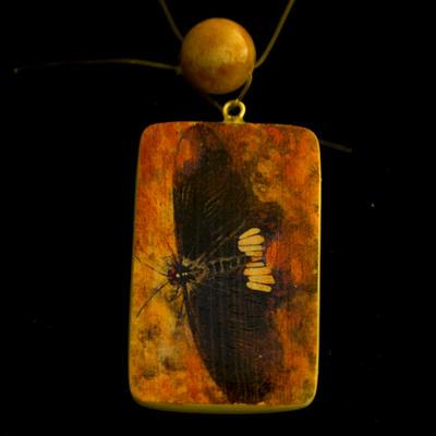 Butterfly Image Transfer Pendant Necklace by SingapuraStudio