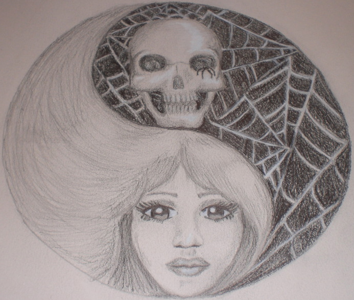 yin yang of life and death by M-Ashleigh