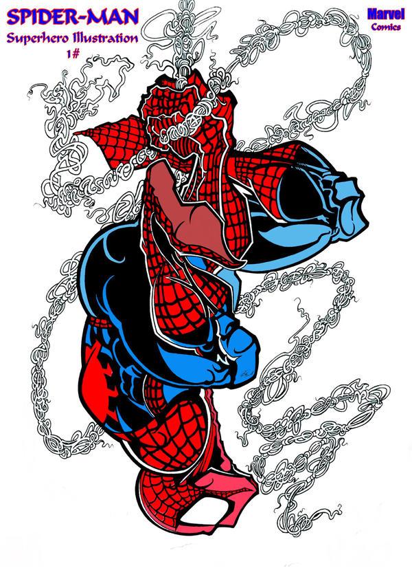 SpiderMan Fan Art Design 1 by ALIEN-10