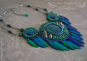 Beetle wings necklace by eturgeneva