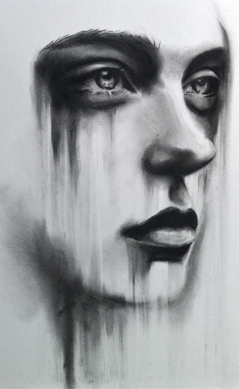Womans face. by LizzieBishop on DeviantArt