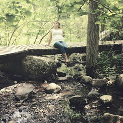 country Girl in the woods