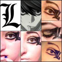 Death Note 'L' inspired makeup!! by Ninja-Saurus