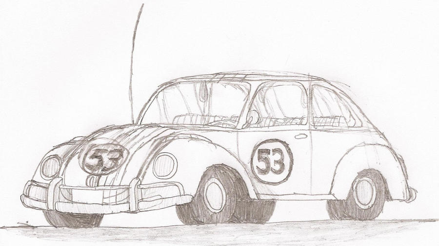Herbie The Love Bug Coloring Pages | Coloring Page