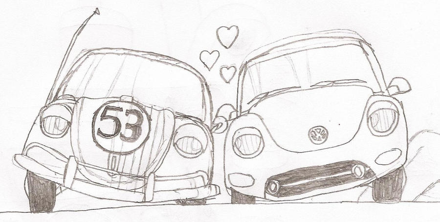 Herbie The Love Bug Coloring Pages Coloring Pages