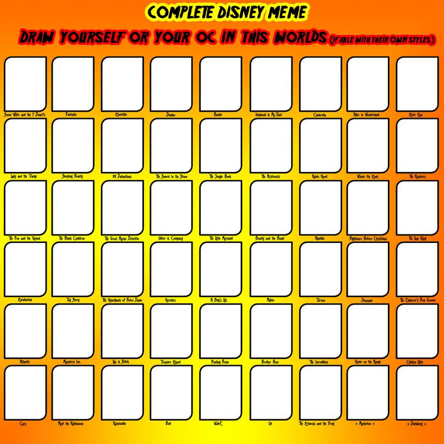 COMPLETE DISNEY MEME by simsim2212