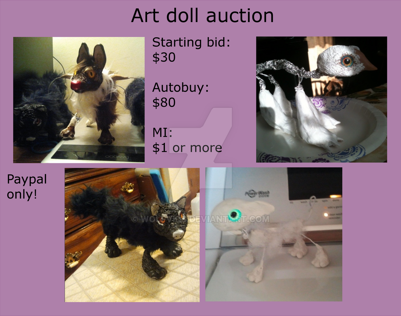 Custom Artdoll auction :open: by Wolfvids