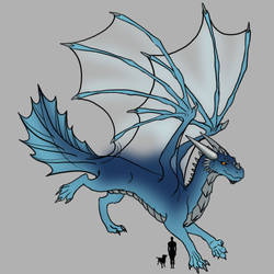 Blue Dragon WIP (Abandoned) by Mizana