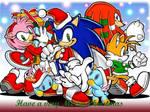 Sonic X-mas card