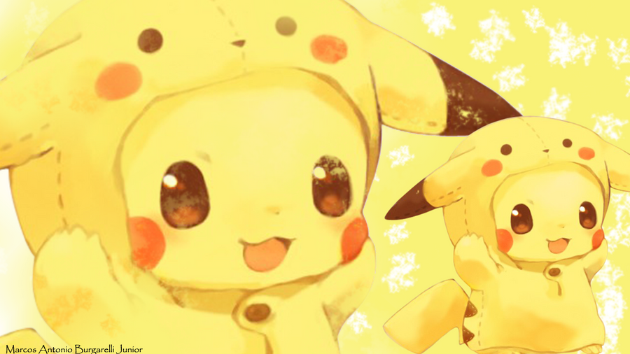 Wallpaper Pikachu by marcoshypnos