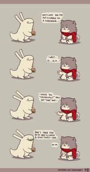 Rabbit and Crayon weekly comic - Cake