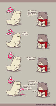 Rabbit and Crayon weekly comic - Cold