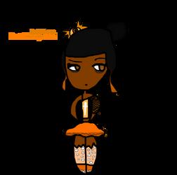 Pastel Orange Goth