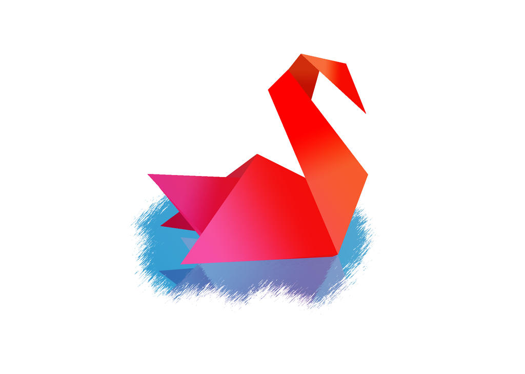 Origami Swan By Aleco247