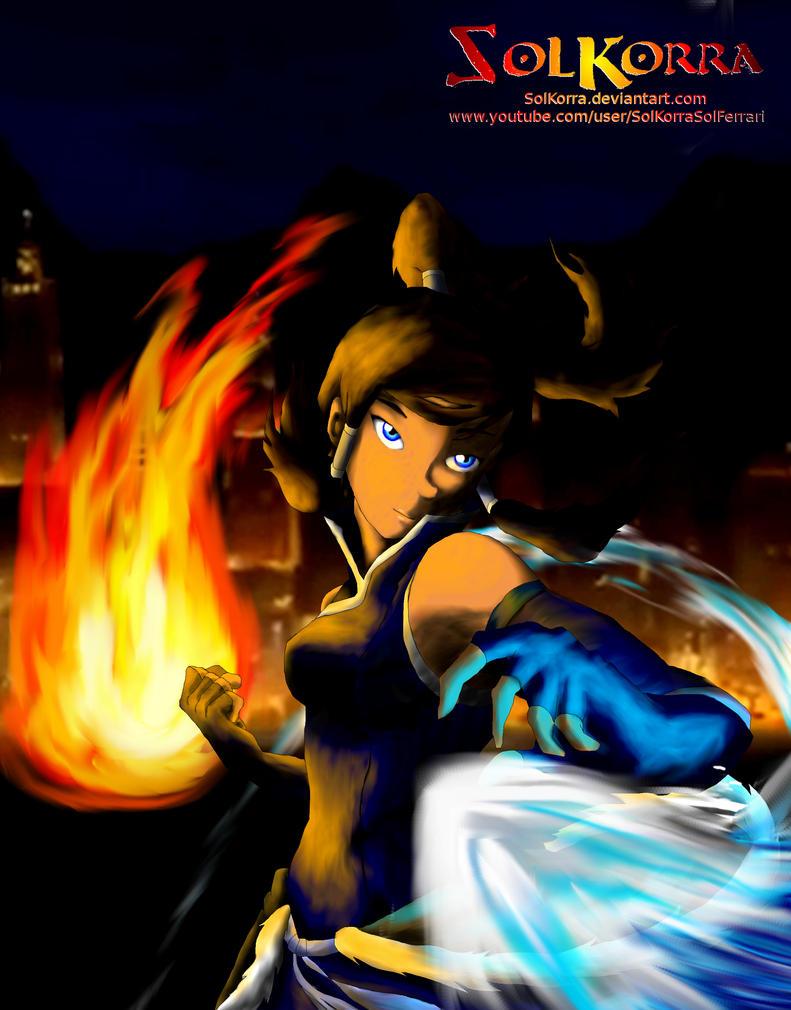 Avatar Korra Fire and Water Bender by SolKorra
