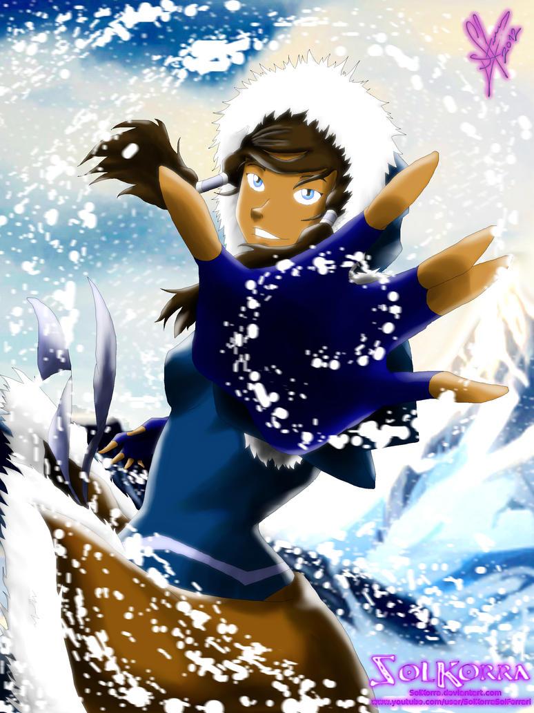 Korra Snow Bender by SolKorra