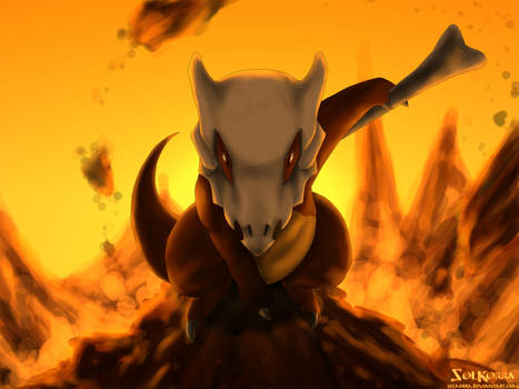 Pokemon #104  Cubone by SolKorra