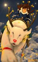 Korra and Naga Merry Christmas by SolKorra