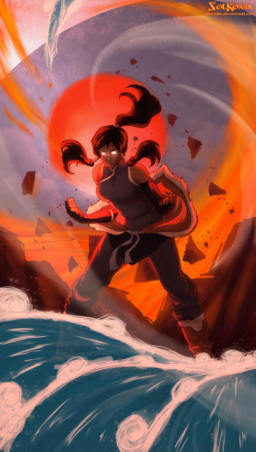 Korra Avatar State Power by SolKorra on DeviantArt Aang Avatar State Korra