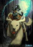 Korra and Naga In The South Pole Cavern