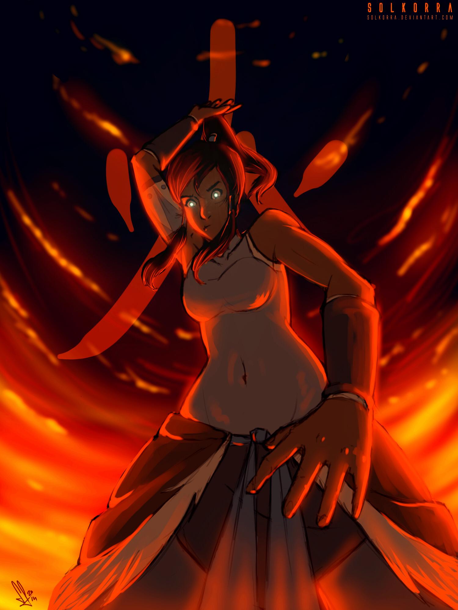 Korra Burn by SolKorra