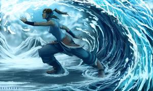 Korra Water Impulse by SolKorra