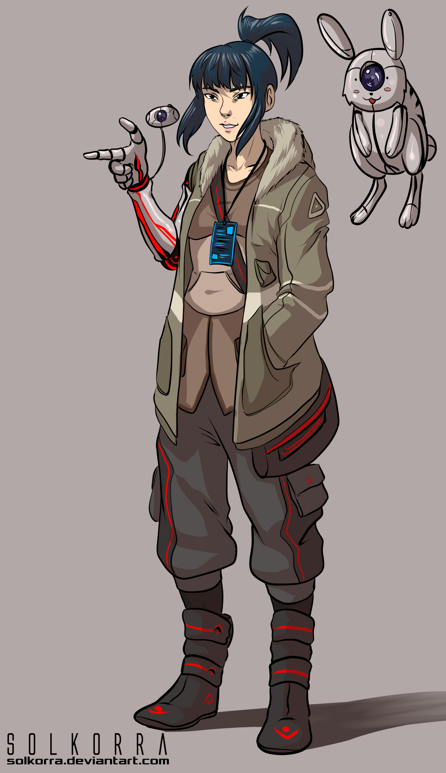 Character Design Artist Hire : Cyberpunk journalist by solkorra on deviantart