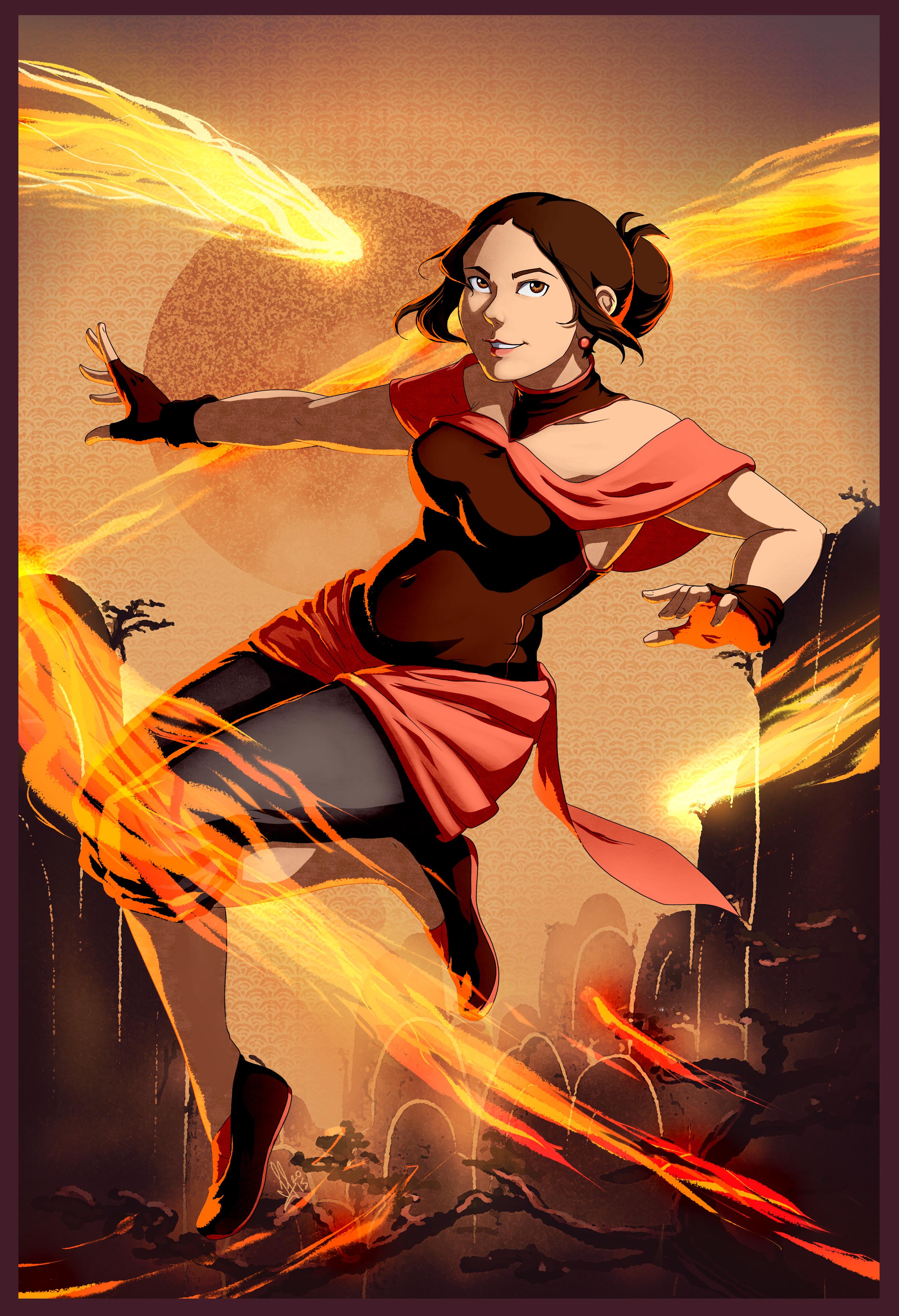 Firebender Sol by SolKorra
