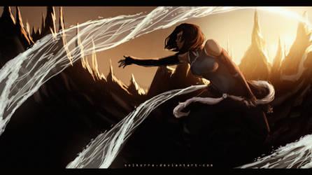 #021 Korra Sunset Practice by SolKorra
