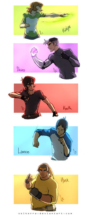 Sketches of the Day - Voltron Paladins Training