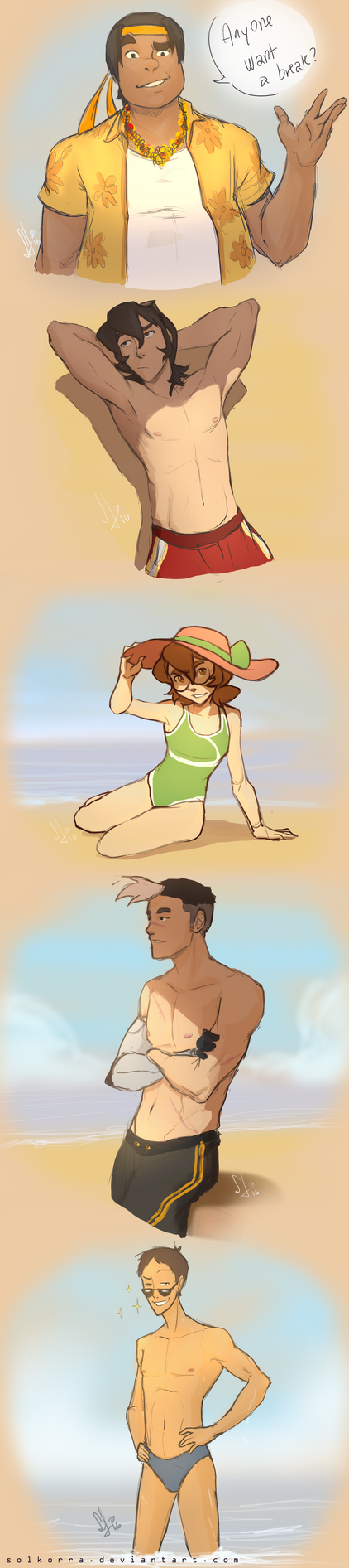 Voltron x Beach by SolKorra