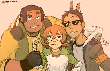 Hunk, Pidge and Lance by SolKorra