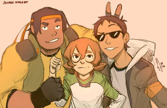 Hunk, Pidge and Lance